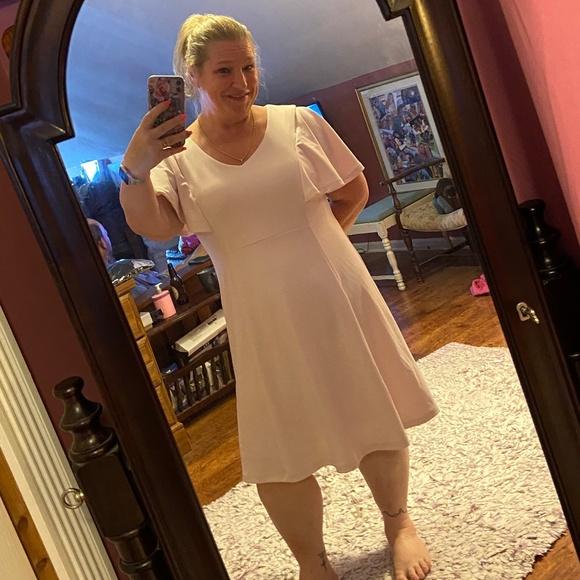 Liz Claiborne 14W Pale Pink Dress Formal Evening